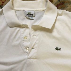 Lacoste collared tee shirt